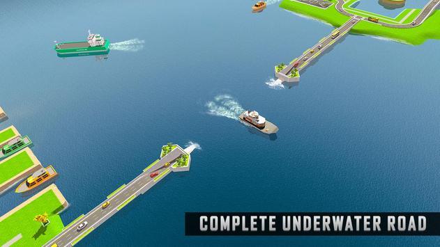 Underwater Road Builder: Bridge Construction 2019 screenshot 9