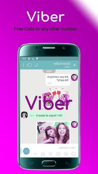 freе Viber Messenger video calls and chat tipѕ poster