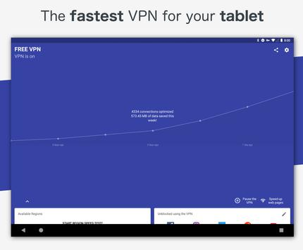 Free VPN - Safe and private browsing on a hotspot apk screenshot
