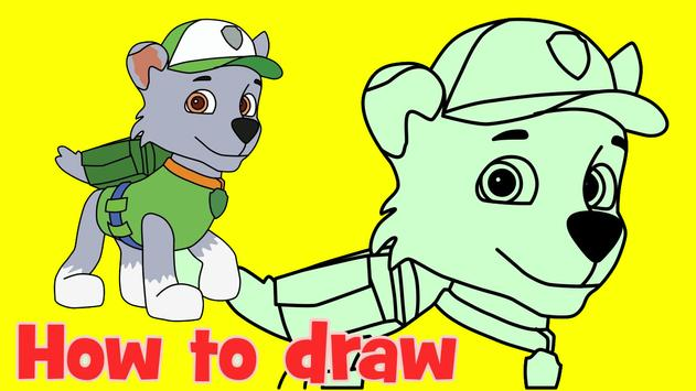 How To Draw Paw Patrol Tutorial screenshot 5