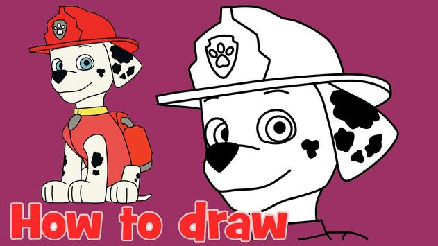 How To Draw Paw Patrol Tutorial screenshot 8