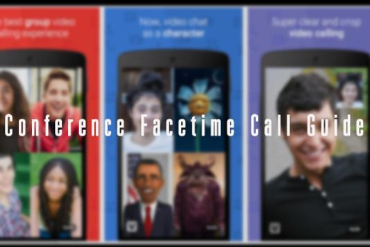 Conference Facetime Call Guide poster