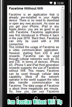 Free Facetime without WiFi Tip poster