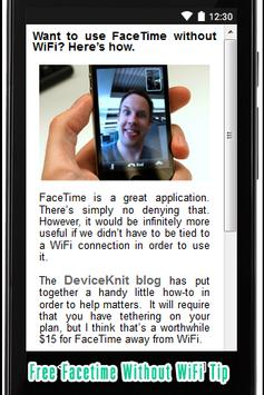 Free Facetime without WiFi Tip apk screenshot