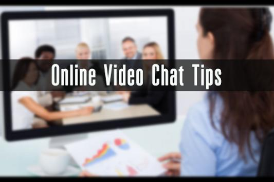 Online Video Chat Tips poster