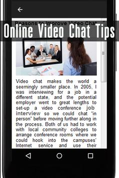 Online Video Chat Tips apk screenshot