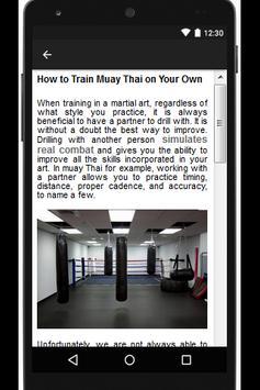 MUAY THAI TRAINING EXERCISES apk screenshot