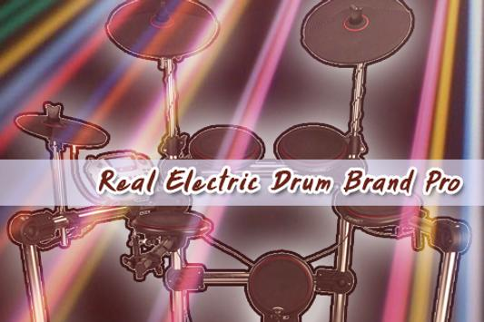 Real Electric Drum Brand Pro poster