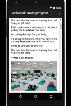 Taekwondo Training Program screenshot 1