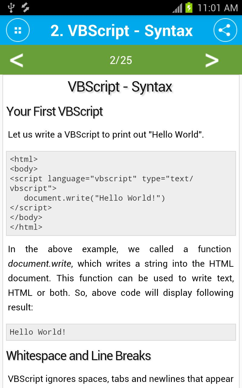 Free VBScript Tutorial for Android - APK Download
