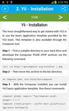 Free Yii Framework Tutorial screenshot 2