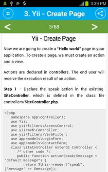 Free Yii Framework Tutorial screenshot 3