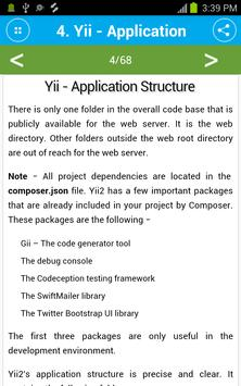 Free Yii Framework Tutorial screenshot 4
