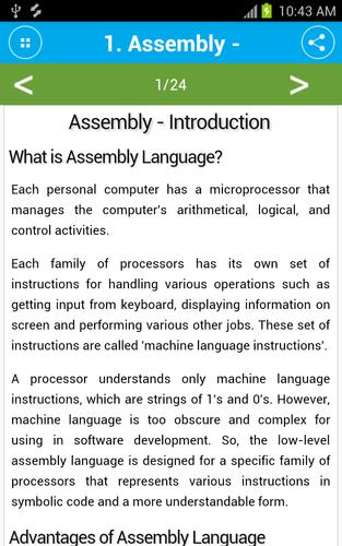 Free Assembly Programming Tutorial for Android - APK Download