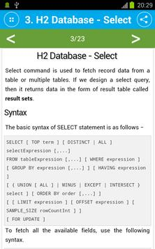 Free H2 Database Tutorial cho Android - Tải về APK