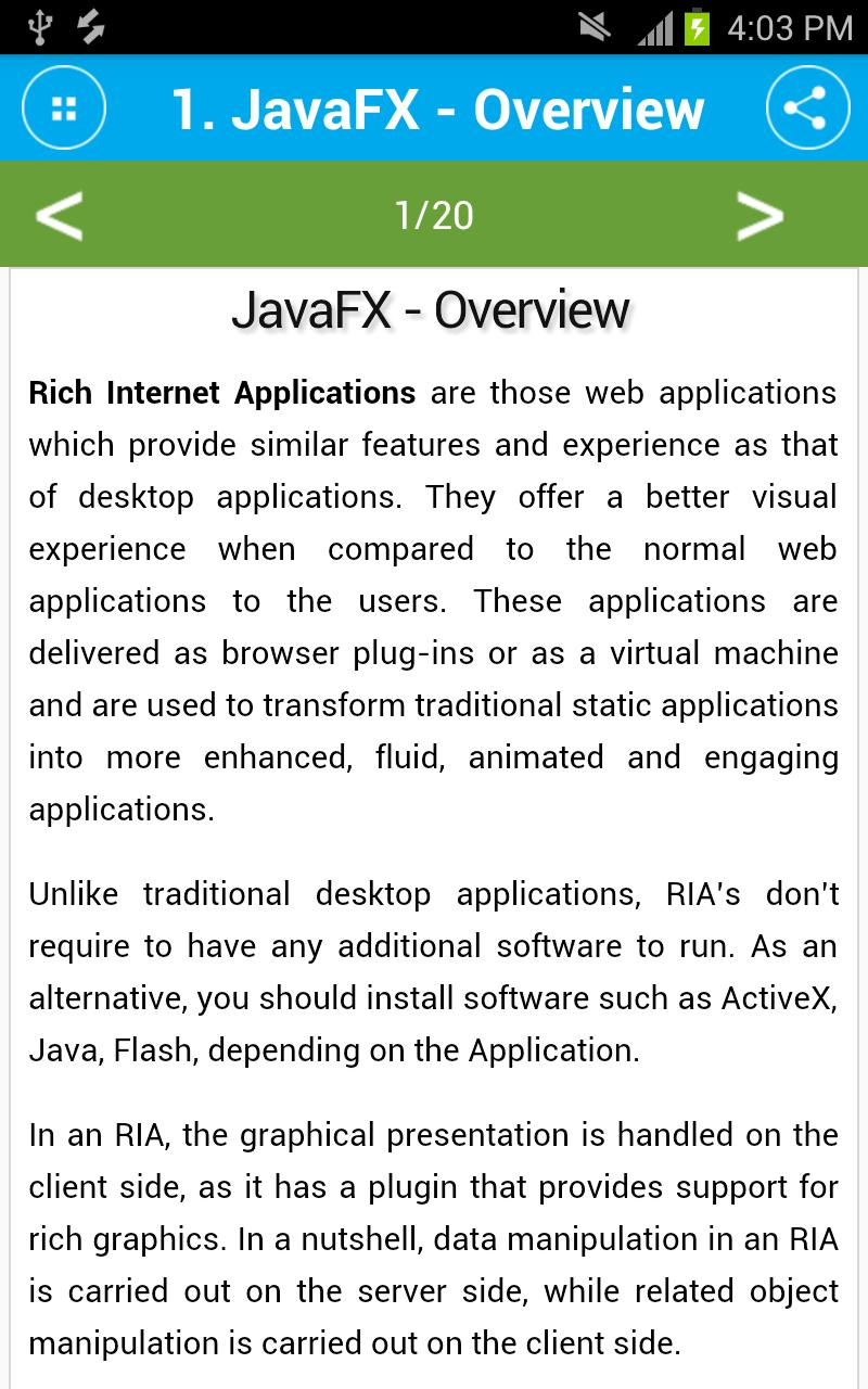 Free JavaFX Tutorial for Android - APK Download