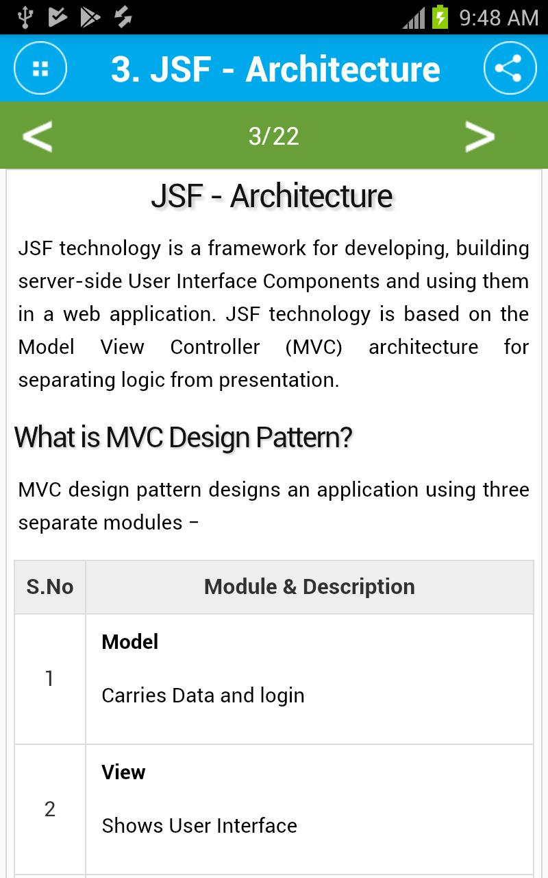 Free JavaServer Faces (JSF) Tutorial for Android - APK Download