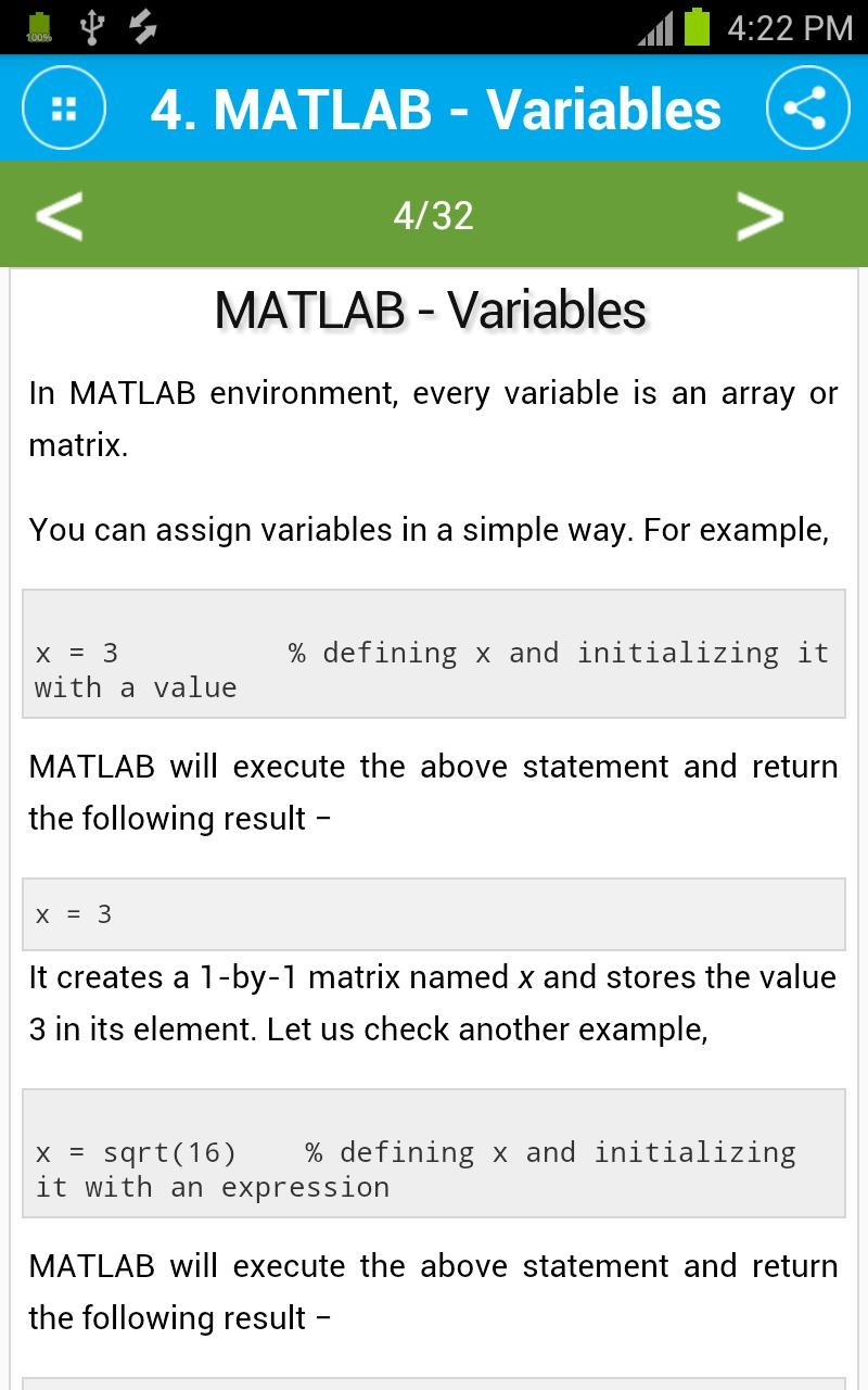 Free MATLAB Tutorial for Android - APK Download