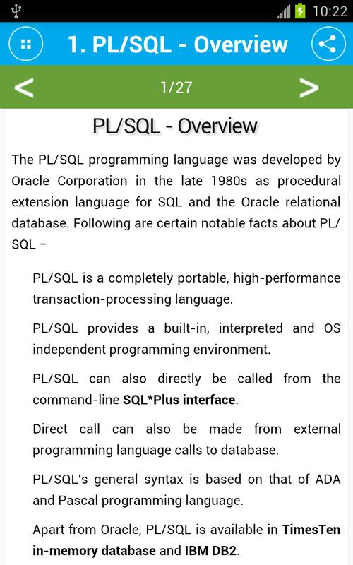 Oracle pl sql tutorial freedownload free software programs online.