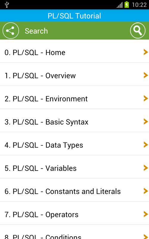 Free pl/sql tutorial for android apk download.