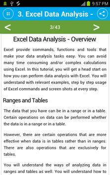 Learn Excel Data Analysis screenshot 4