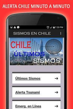 Sismos en Chile y Emergencias poster