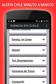 Sismos en Chile screenshot 1