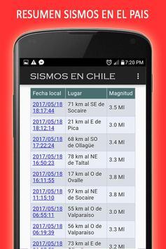 Sismos en Chile screenshot 2