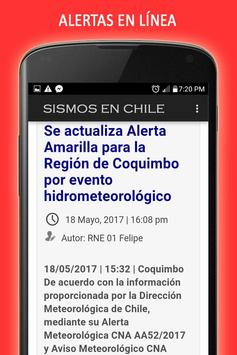 Sismos en Chile screenshot 3