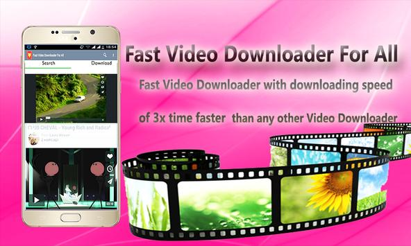 Fast Video Downloader For All poster