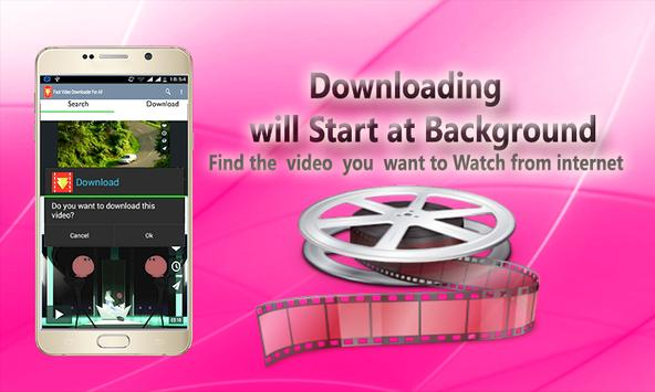 Fast Video Downloader For All screenshot 1