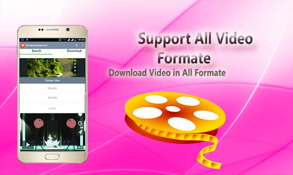 Fast Video Downloader For All apk screenshot