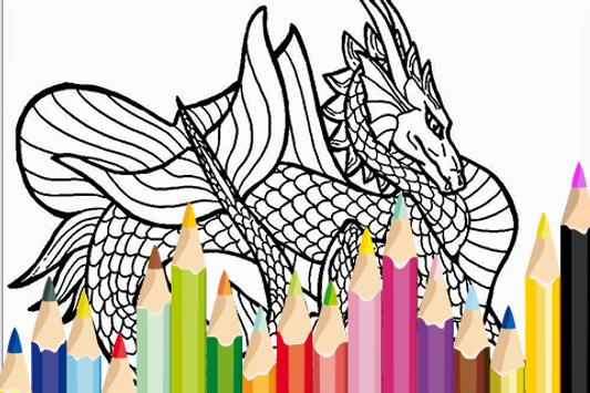Toy Dragon Craft Color Book poster