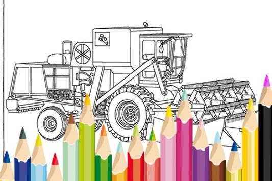 Combine Harvesters Coloring poster