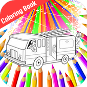 Fire Truck Siren Coloring Book icon