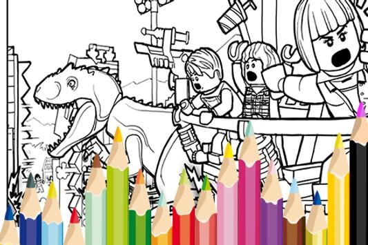 Image Jurassic Craft Coloring poster