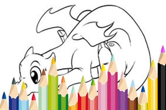 Pet Dragon Craft Coloring poster
