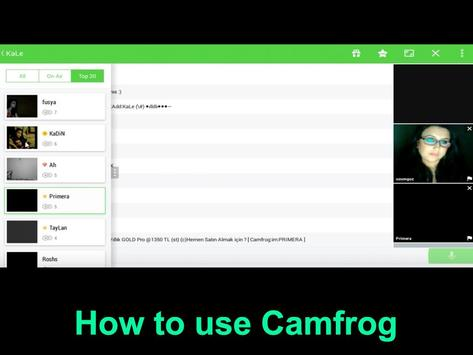 Guide Free Camfrog Chat Video screenshot 1