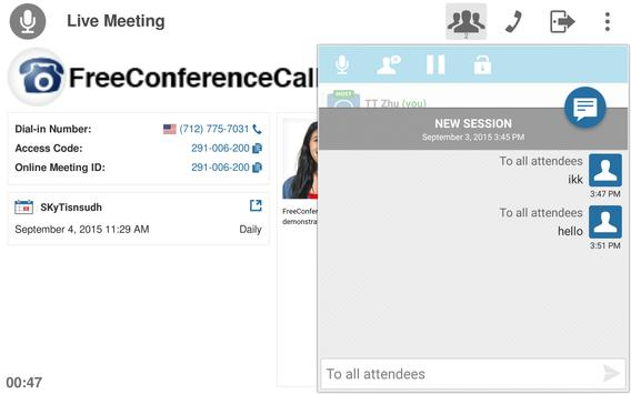Free Conference Call screenshot 17