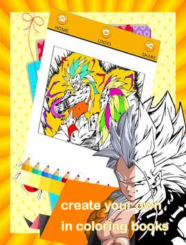 Super Saiyan DBZ Coloring Book APK Download - Free Educational GAME ...