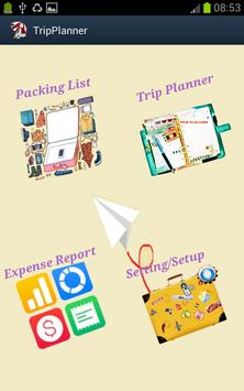 Tripper Planner Itinerary poster