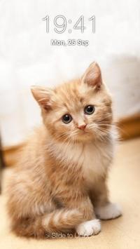 Kitty Cat Pin Lock Screen poster