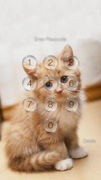 Kitty Cat Pin Lock Screen screenshot 1