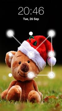 Teddy Bear Pattern Lock Screen apk screenshot