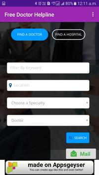 Free Doctor Helpline-DOCTOR : ANY TIME, ANY WHERE screenshot 3
