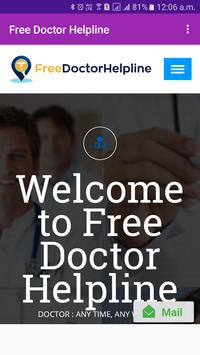 Free Doctor Helpline-DOCTOR : ANY TIME, ANY WHERE poster