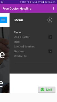 Free Doctor Helpline-DOCTOR : ANY TIME, ANY WHERE screenshot 1