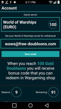 Free Doubloons for WOWS screenshot 2