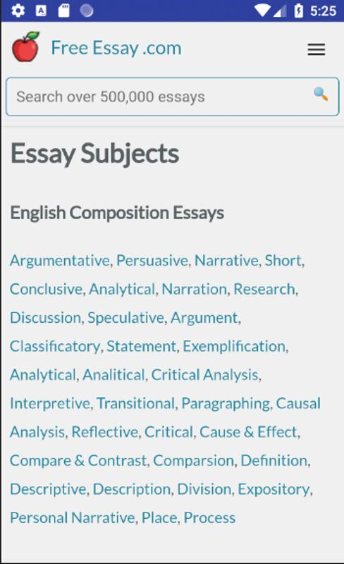 Free Essays, Research Papers, Term Papers for Android - APK Download