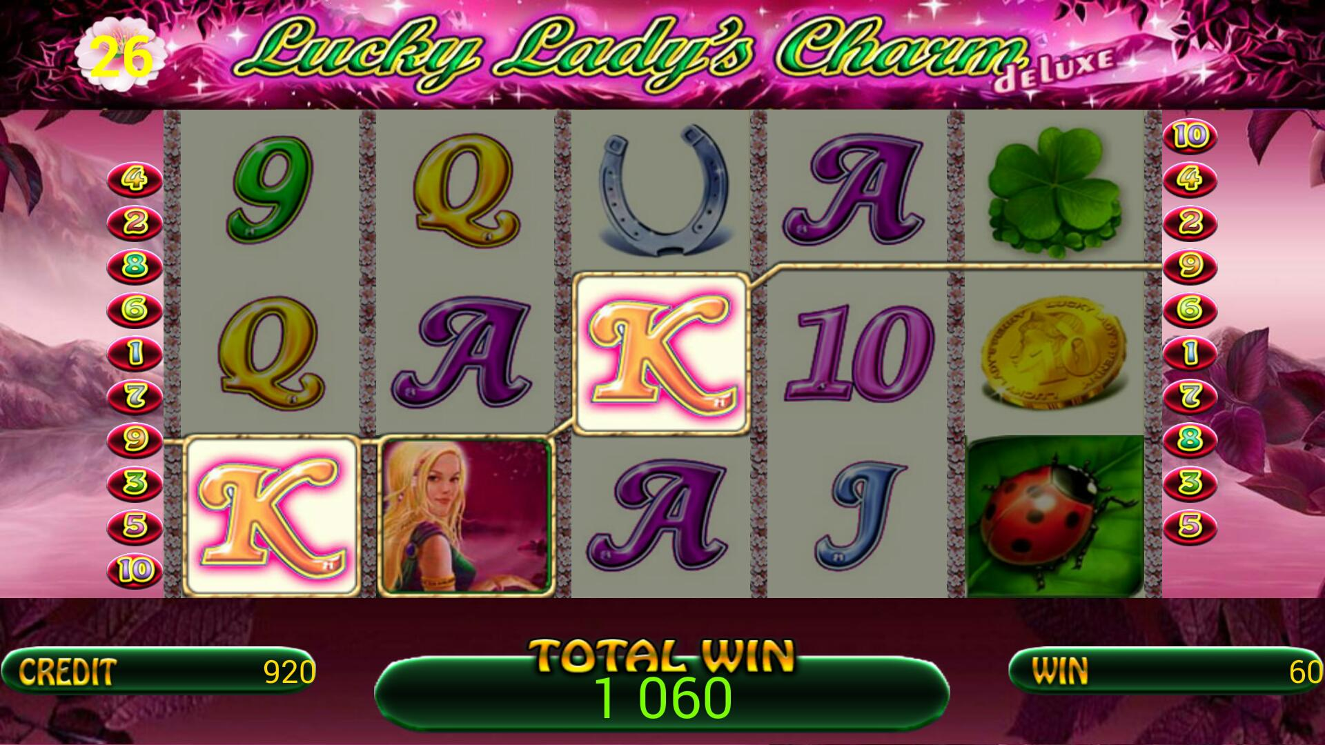 Lucky Lady Charm Deluxe slot poster